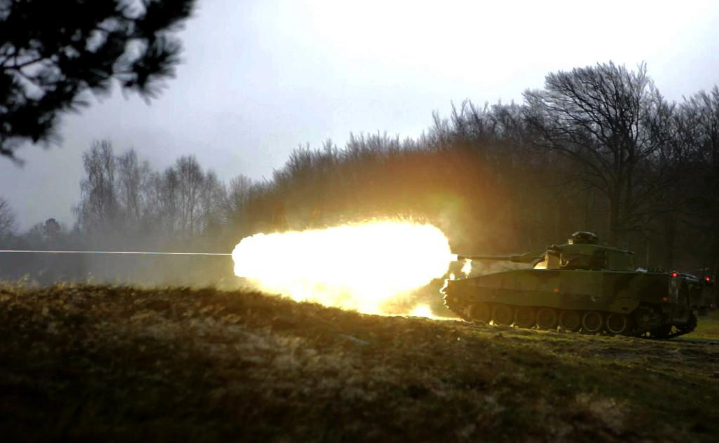 (Foto de um tanque que Andreas gravado para Battlefield)
