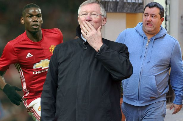Sir Alex Ferguson, Paul Pogba and Mino Raiola