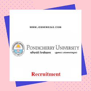 Pondicherry University Recruitment 2020 for Junior Research Fellow