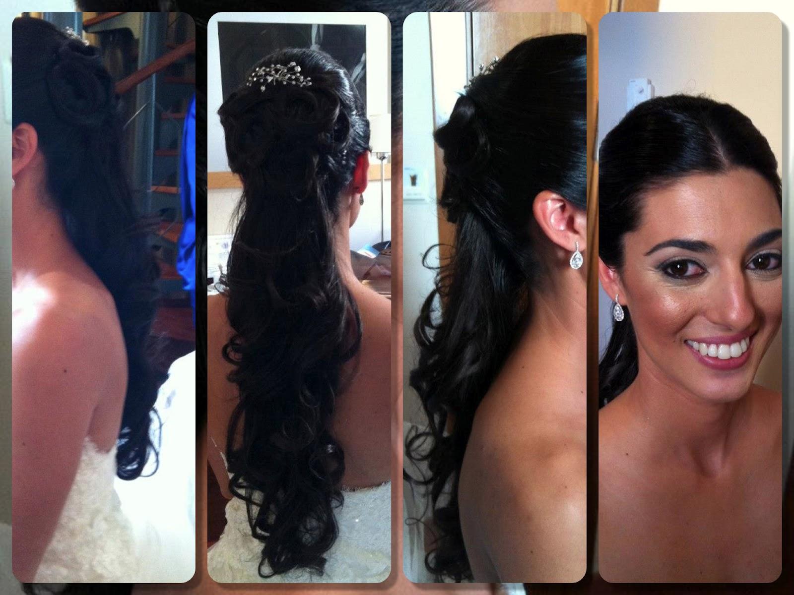 Peinados de cascadas para novias