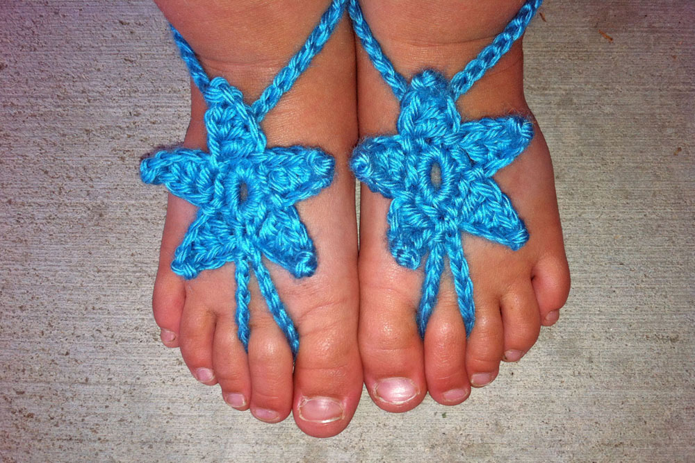 f46f0bf24ed Baby Star Barefoot Sandals