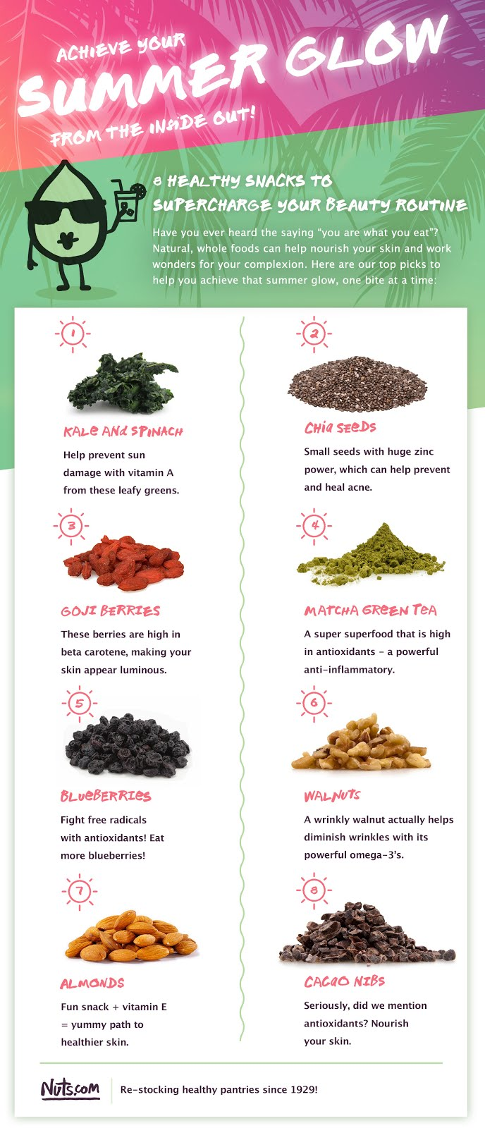 Superfood snacks for healthy skin
