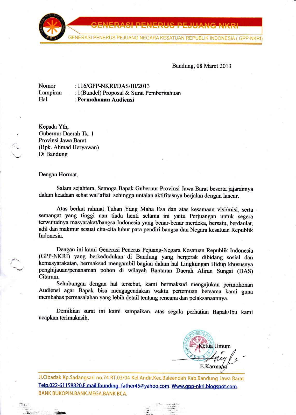Contoh Surat Permohonan Ke Dinas Lingkungan Hidup