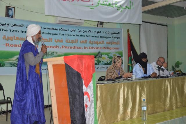 الجنة في الكتب السماوية محور مداخلات اليوم الثاني من الملتقى الدولي لحوار الاديان بمخيمات اللاجئين الصحراويين.