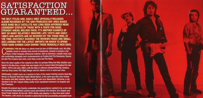 BILLY SATELLITE - Billy Satellite [Rock Candy Remastered & Reloaded] booklet