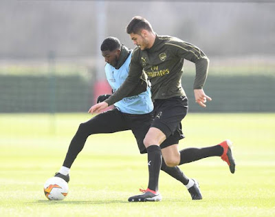 arsenal training rennes