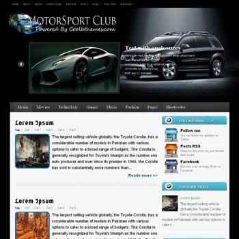 Motorsport Club blogger template. template blogspot free