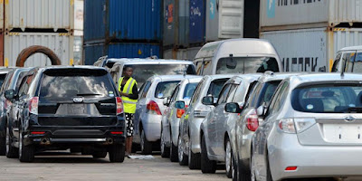 Cheap Cars imported at the KPA. PHOTO | Business daily