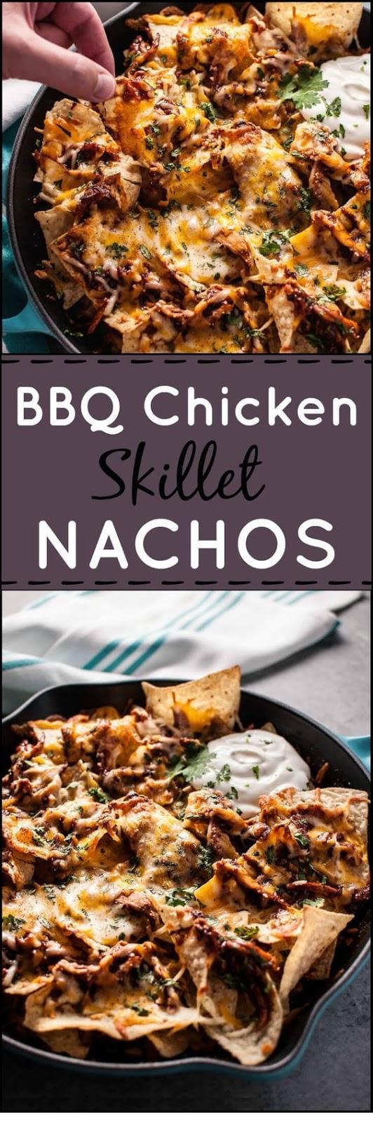 Bbq Chicken Skillet Nachos