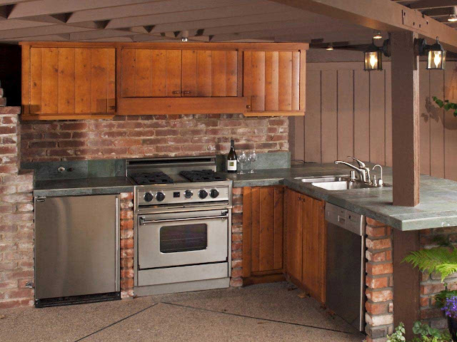 Wood Outdoor Kitchen Cabinets