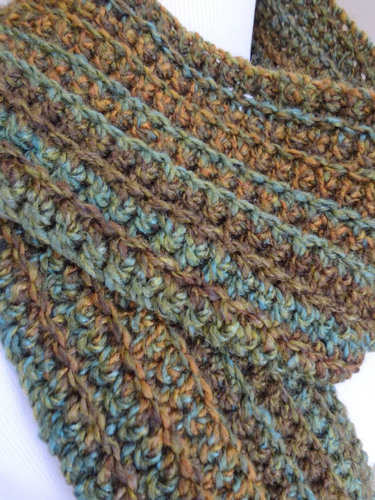 Fiber Flux Free Crochet Patternwise Oak Ribbed Scarf