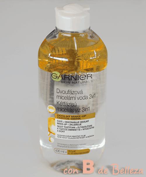 Agua micelar con aceite