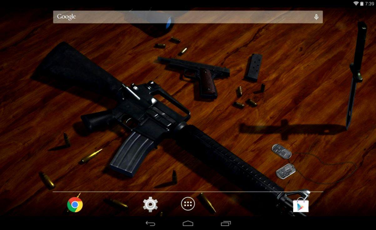 Pistol 3D Creativity Wallpaper | Wallpapers Warrior
