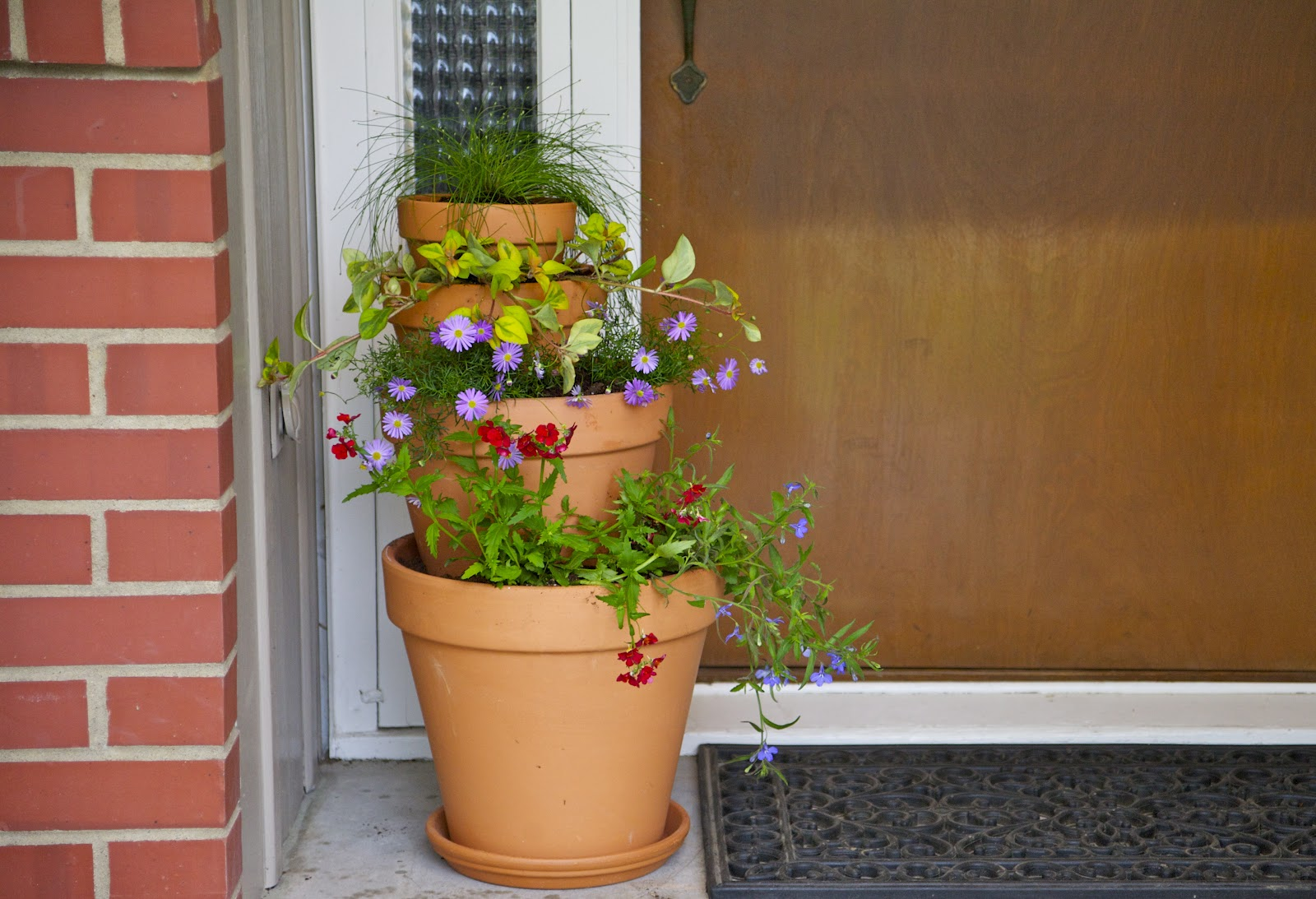 Three Tier Flower Pots Dwell Ing Noun Tiered Flower Pots