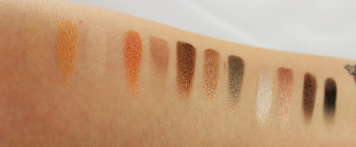 Naked 2 palette swatches