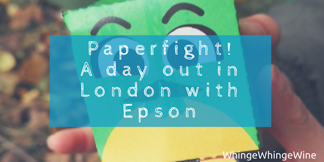 We went up to London for the Epson #PaperFightHunt. And survived.