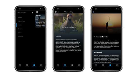 Iberalia Go para iOS, documentales de caza y pesca para iPhone y iPad
