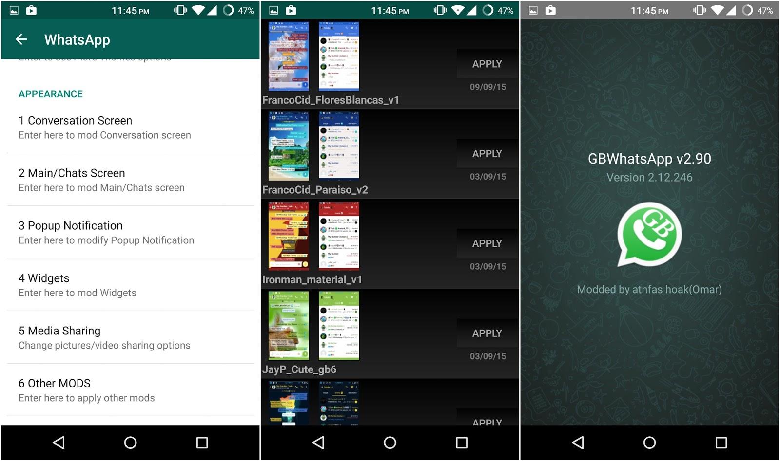 GBWhatsapp v4 15 (Dual Whatsapp) Apk - Blue ApK
