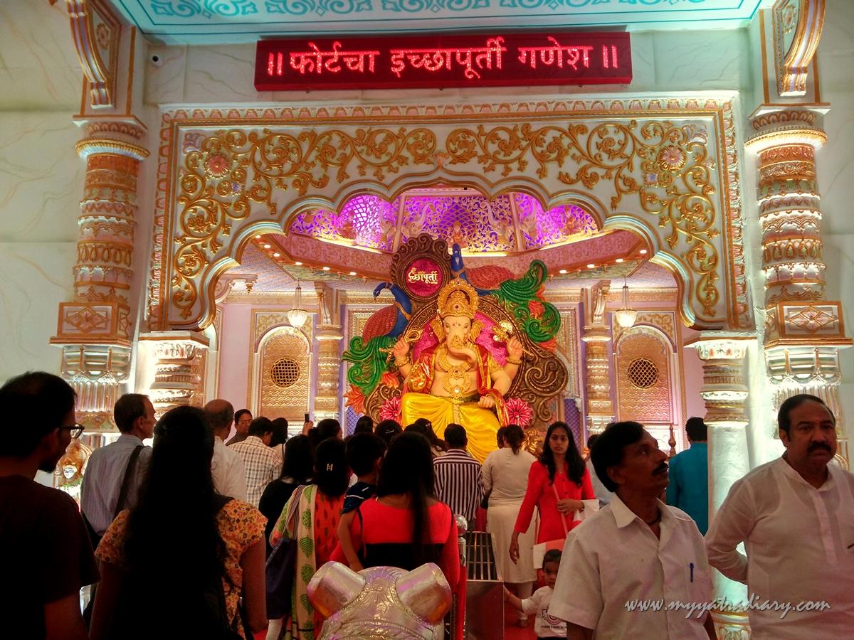 Bikaner palace pandal of Fortcha Icchapurti Ganesha, Fort Vibhag Sarvajanik Ganeshotsav Mandal