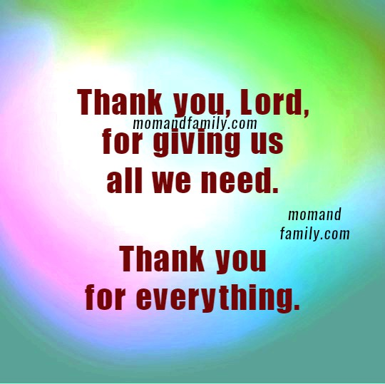 Short Family Prayer. Christian Quotes and Image about Family. Christian card for praying each day with children. Mom and family love quotes by Mery Bracho. Thanksgiving prayer for family. November, 2016.