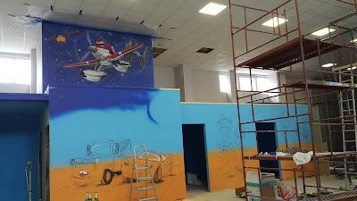 MAlowanie pokoju dziecięcego, malowidło ścienne w pokoju dziecięcym, artystyczne malowanie ścian, mural 3D, malowanie bajek na ścianie