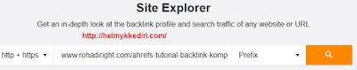 Cara mengetahui backlink website dengan ahref1