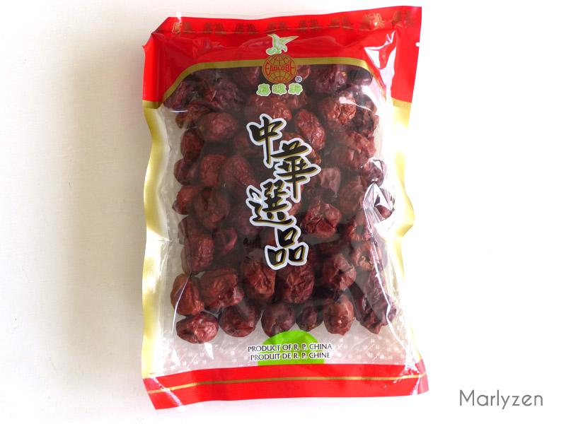 Jujubes séchées ou dattes chinoises.