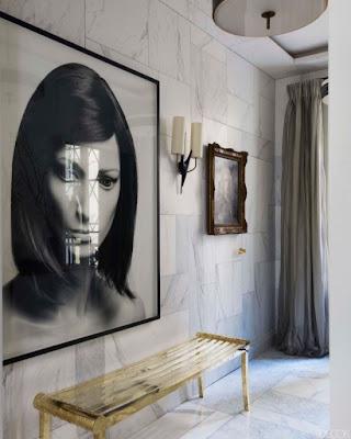 jean louis denoit hallway with marble on the walls via belle vivir blog