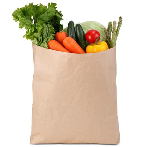 túi giấy đựng rau củ