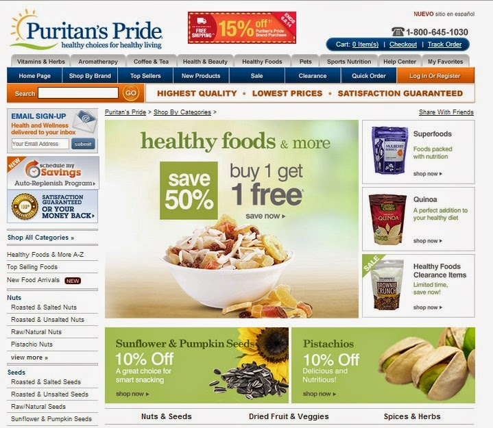 Discount Homegoods: Puritans Pride Coupons: Puritans Pride Coupon Codes For