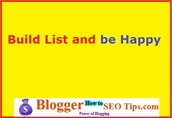 Build List, email list building, affiliate marketing basics
