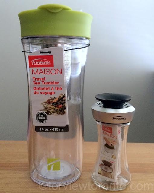 trudeau maison tea tumbler spice shaker