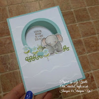 A Little Wild Pool Party Baby Elephant Card