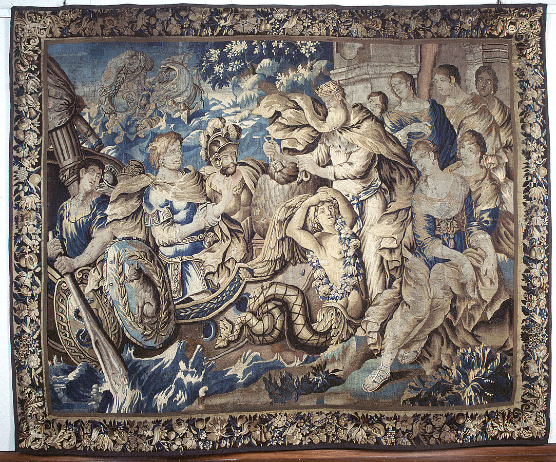 Aubusson tapestry, french tapestry, tapestry