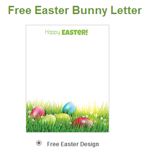 Wny deals and to dos free letter from the easter bunny for Letter to easter bunny template