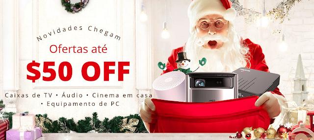 Boa promoção de Natal de Boxs, PCs, Projectores, etc, na Gearbest