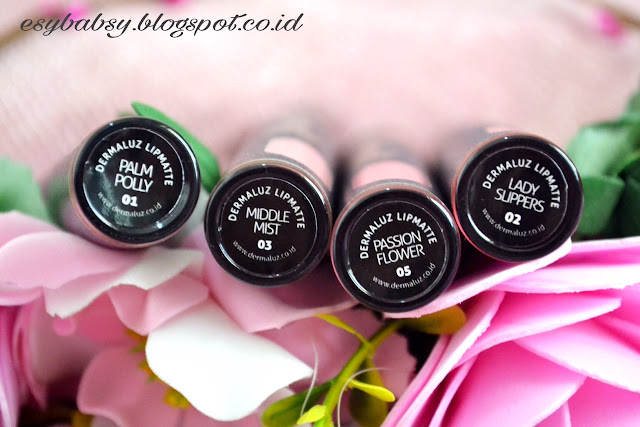 review-dermaluz-lip-matte-esybabsy-palm-polly-middle-mist-pasion-flower-lady-slippers