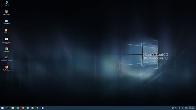 Hiren's BootCD PE  interfaccia con Windows 10 PE a 64 bit