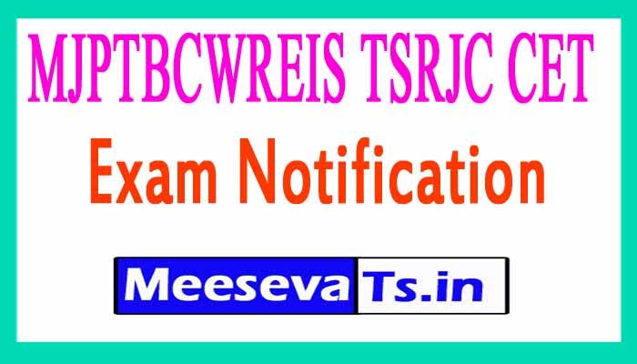 MJPTBCWREIS TSRJC CET Entrance Exam  Apply  Online