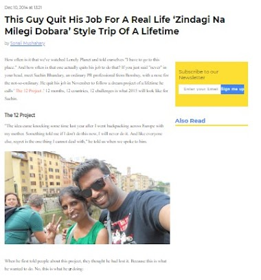 Scoopwhoop - This Guy Quit His Job For A Real Life 'Zindagi Na Milegi Dobara' Style Trip Of A Lifetime