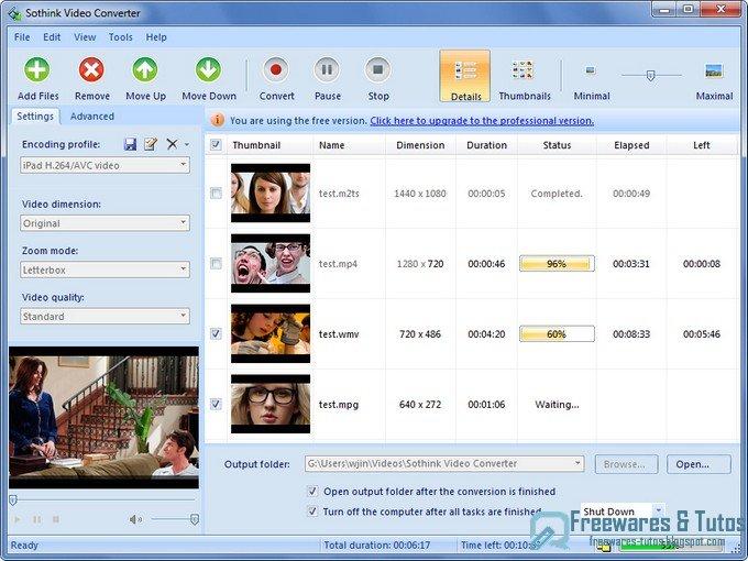 sothink free video converter un logiciel gratuit et en