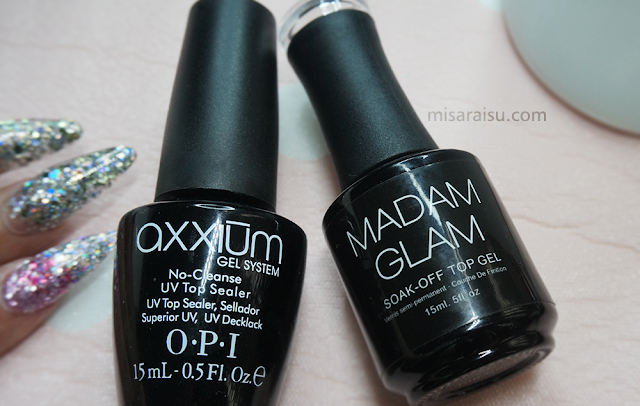 opi axxium madam glam soak off top gel nail review