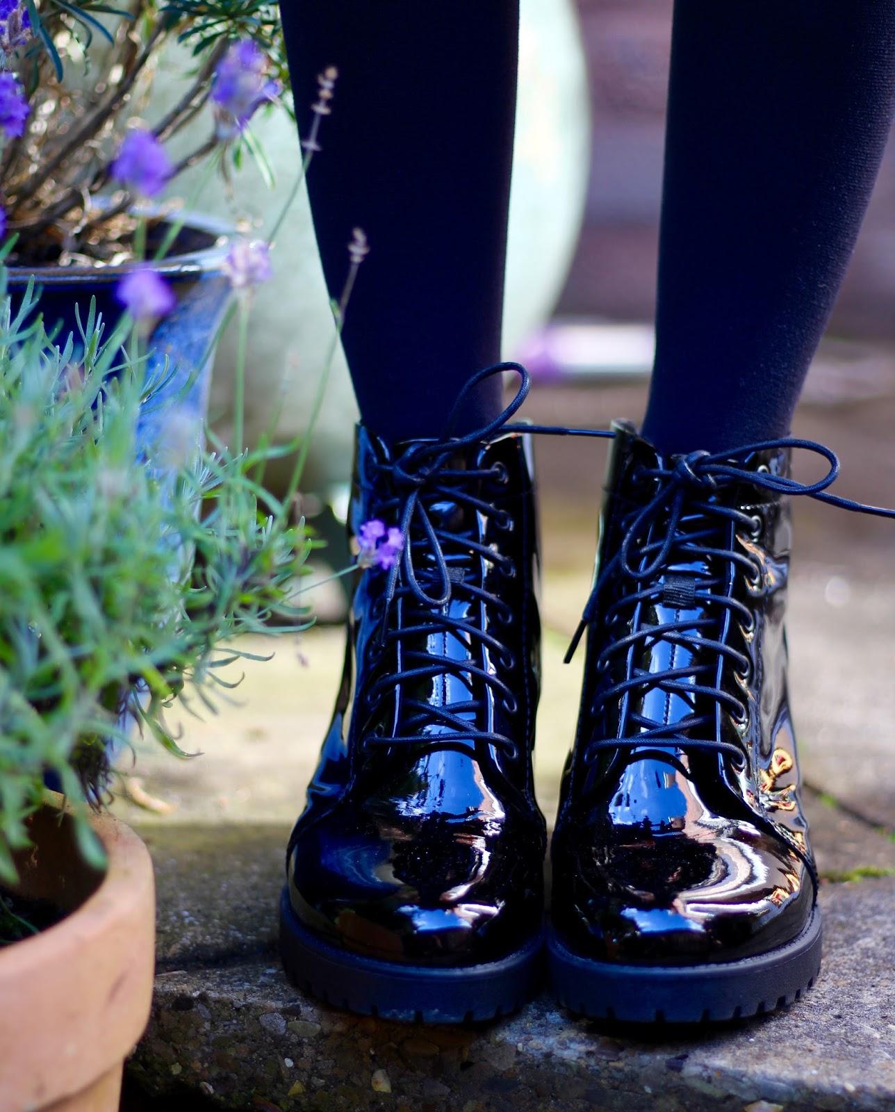 Fake Fabulous | Vagabond Chunky patent boots.