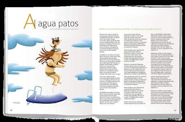 """""""ilustración-al agua patos-revista-ana sáez del arco-illustation-ducks to water-magazine"""""""