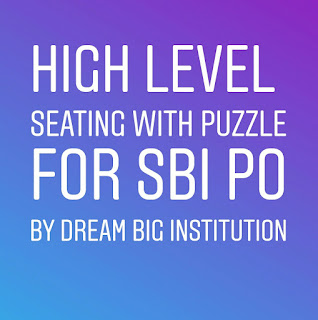 High Level Seating  Arrangement with Puzzle For SBI Exam