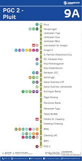 peta rute transjakarta pgc 2 pluit