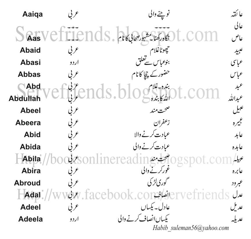 Quran translation in urdu : muslim baby girl names in quran
