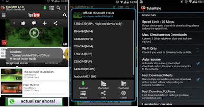 Tampilan Aplikasi TubeMate Youtube Downloader