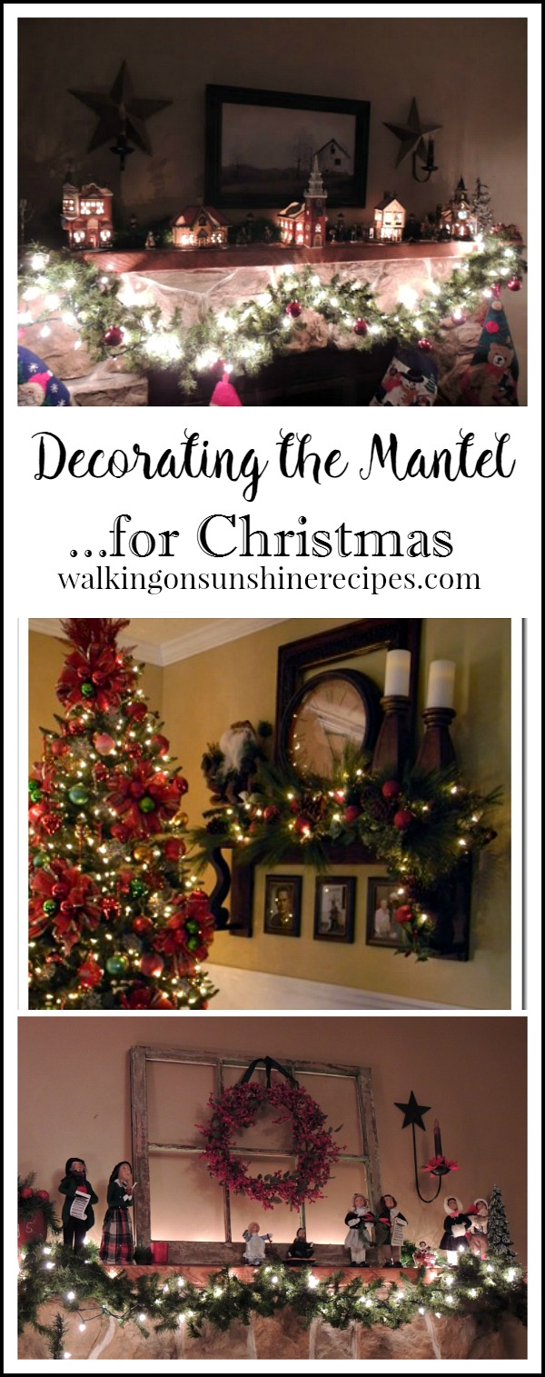 Christmas: Decorations and Ideas for the Mantel from Walking on Sunshine Recipes