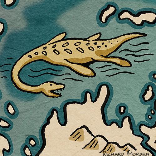 Richard Morden Illustration Map Of The Supercontinent Pangaea